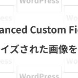 Advanced Custom Fieldsリサイズされた画像を出力
